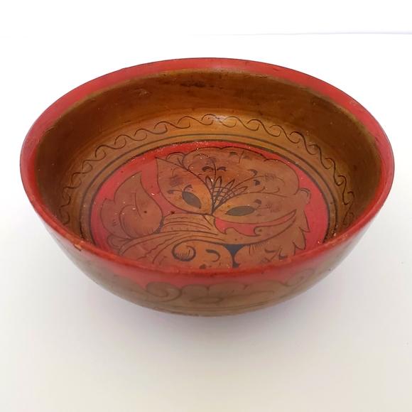 Vintage Russian wood bowl